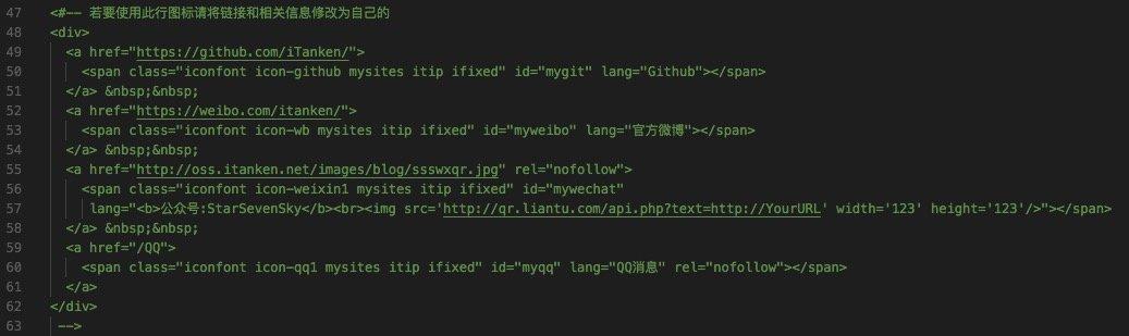 个人链接代码