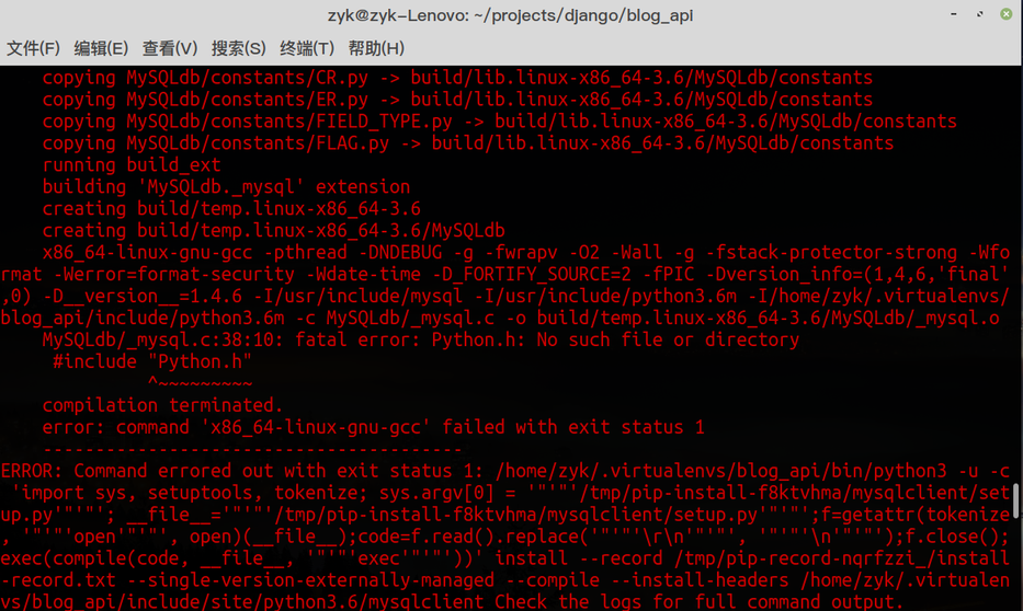 利用 pip 安装 MySQL